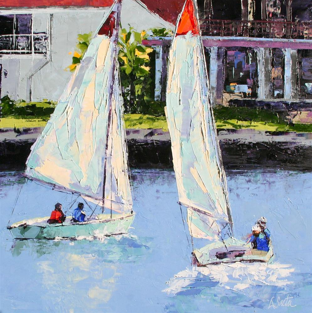 Afternoon Sail original fine art by Leslie Saeta