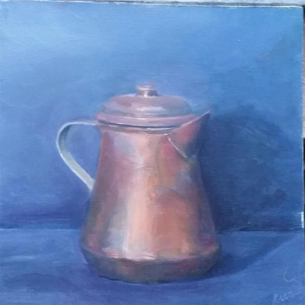 """Copper Pot"" original fine art by Kim Homes"