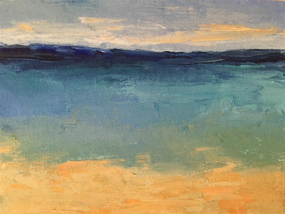 """Seascape"" original fine art by Christine Parker"