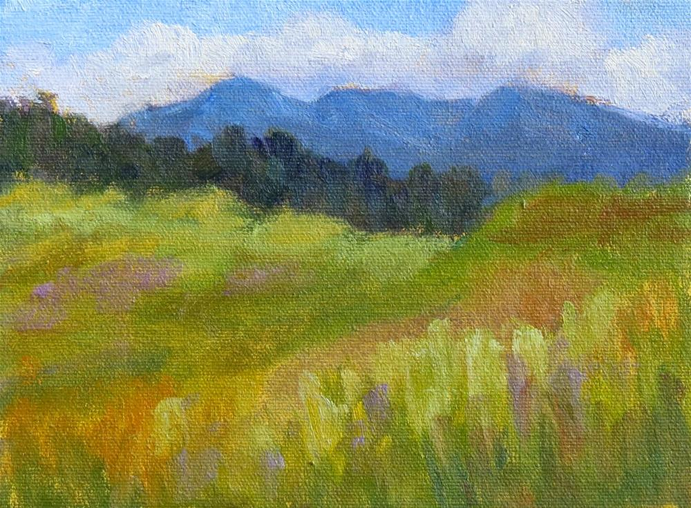 """Mountain Valley"" original fine art by Pam Holnback"