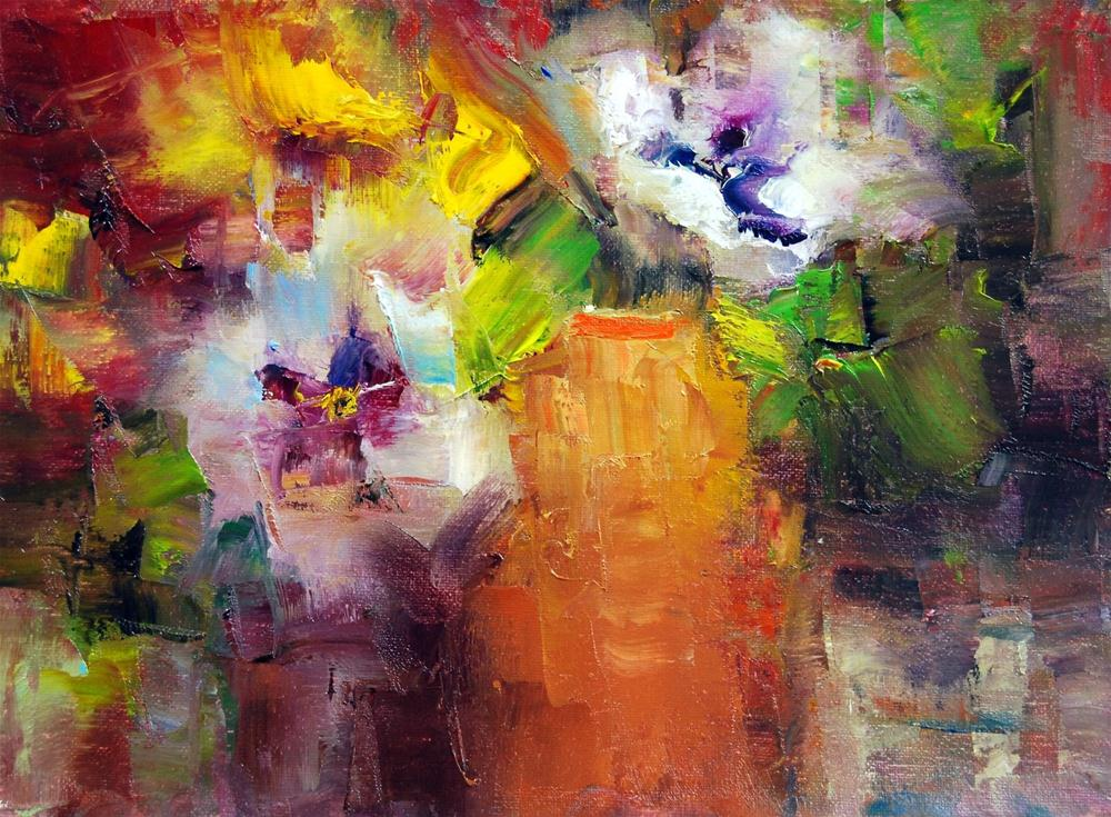 """Pansy Time #7"" original fine art by Julie Ford Oliver"