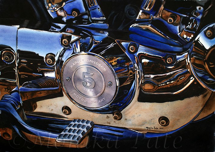 """5 Speed"" original fine art by Monika Pate"