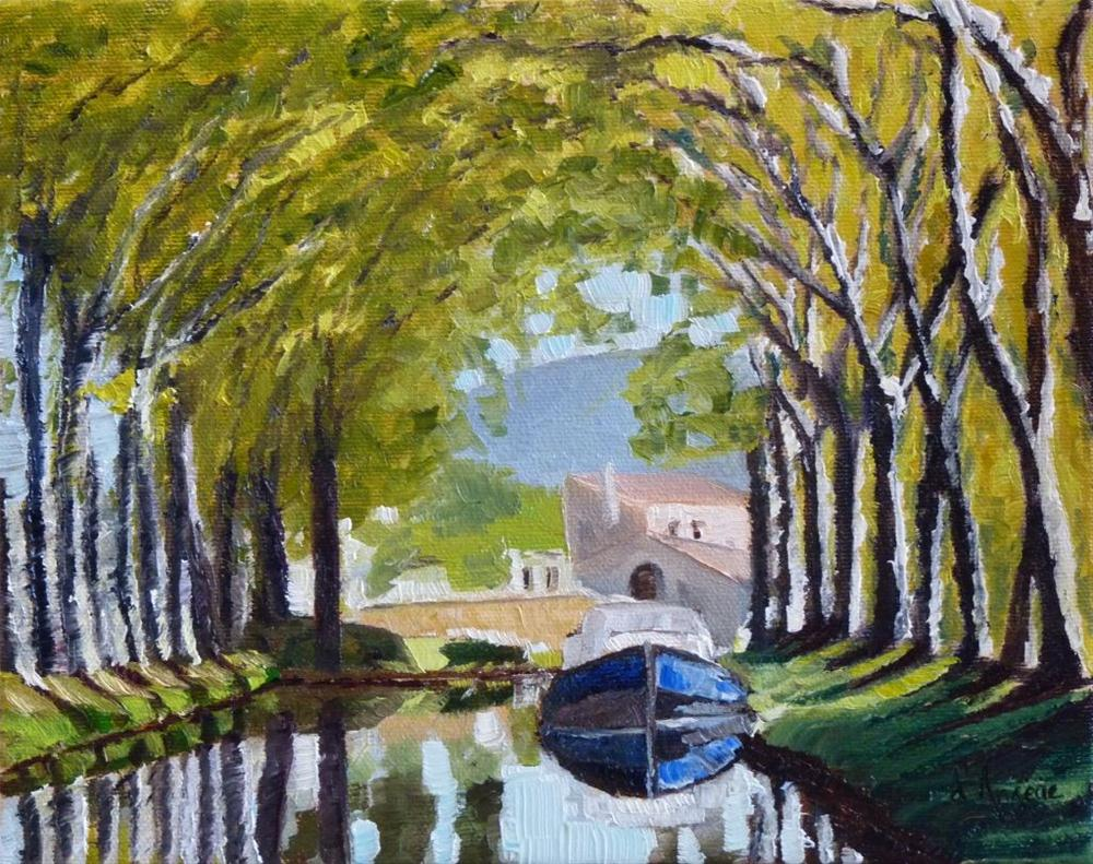 """Canal du Midi"" original fine art by Karen D'angeac Mihm"
