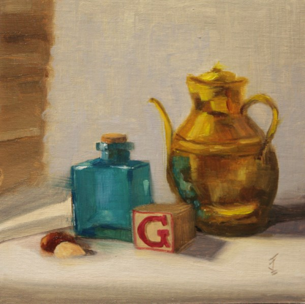"""G is for ..."" original fine art by Jane Frederick"