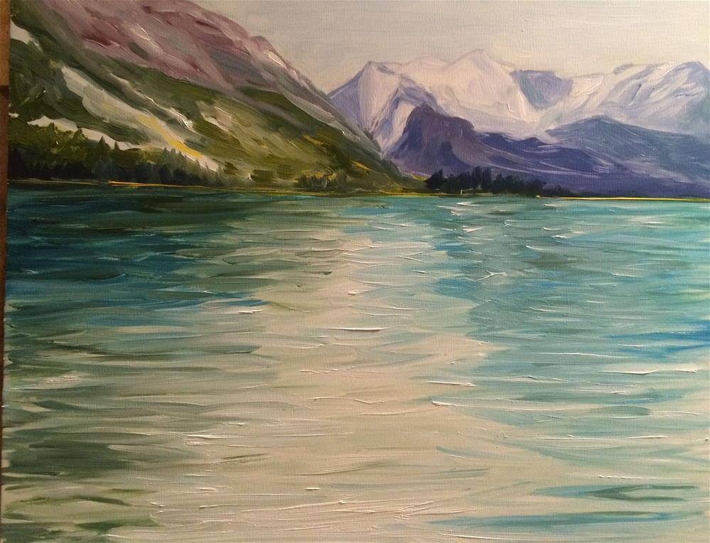 """Maligne Lake"" original fine art by Kim Clay"