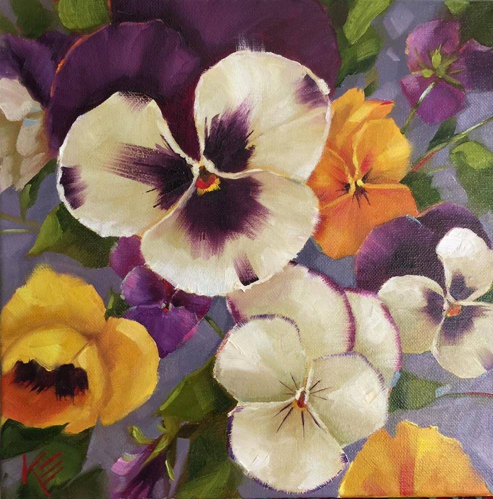 """Pansy Poetry"" original fine art by Krista Eaton"