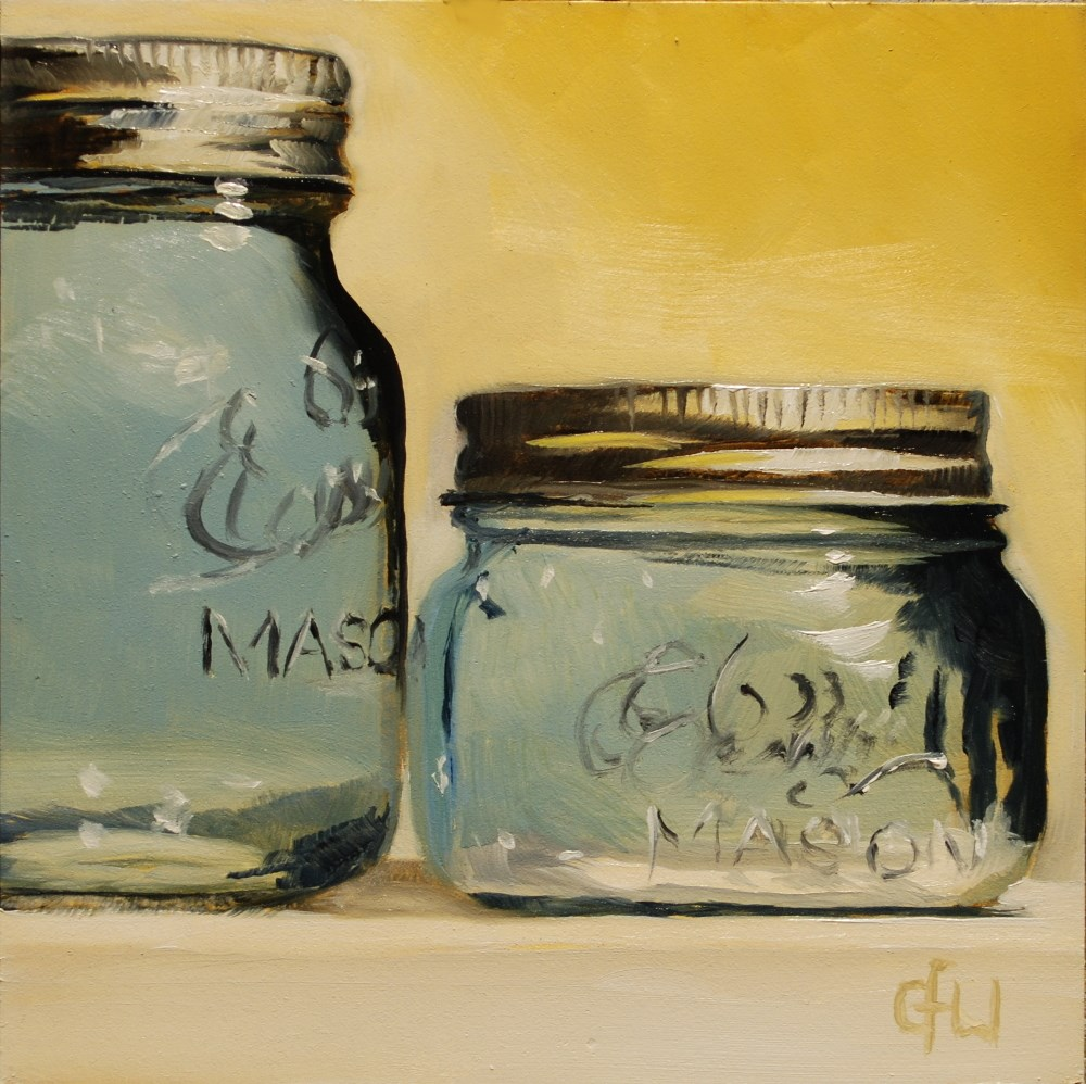 """Two Blue Jars"" original fine art by Gary Westlake"