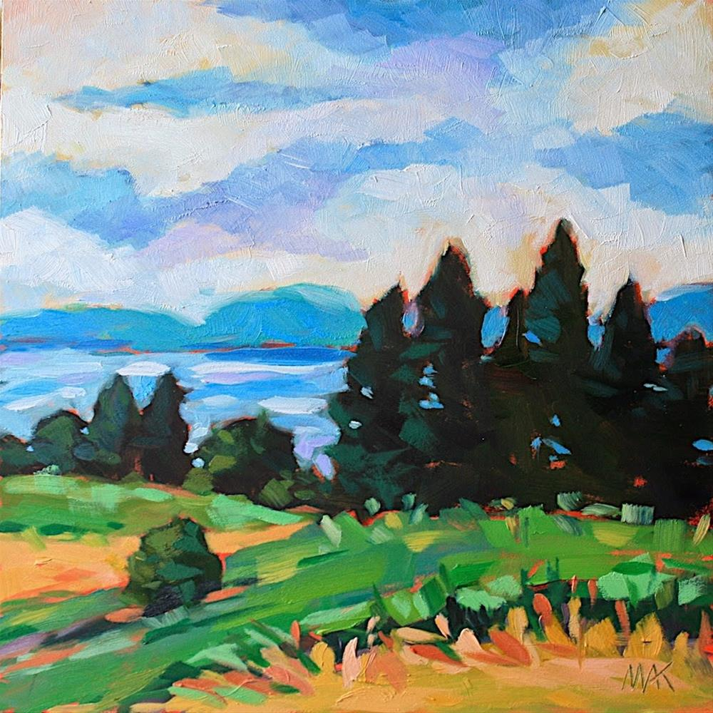 """Trees with a View"" original fine art by Mary Anne Cary"