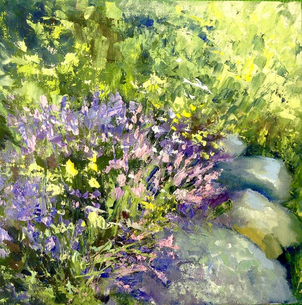 """In Her Garden"" original fine art by Cathy Boyd"