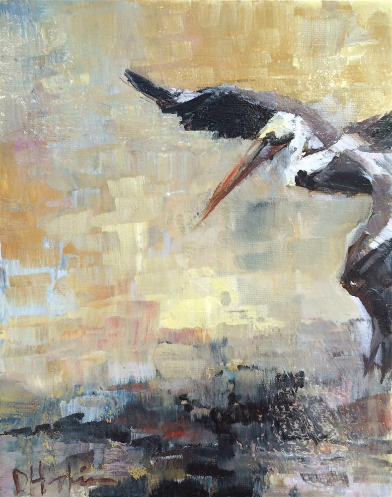 """Pelican View"" original fine art by Denise Hopkins"