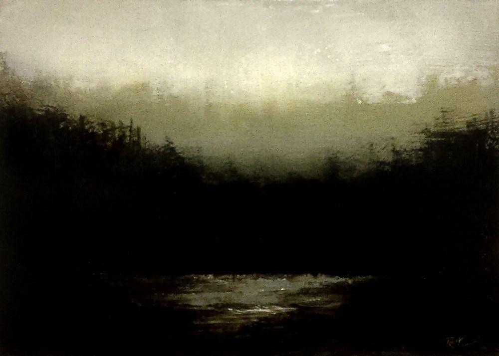 """Foggy Land"" original fine art by Bob Kimball"