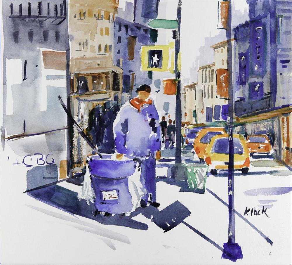 """Working the Streets"" original fine art by Diane Klock"