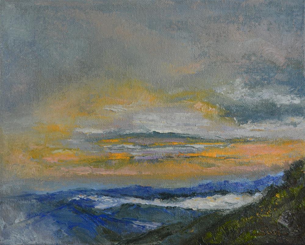 """sunrise on blue ridge 1"" original fine art by Sun Sohovich"