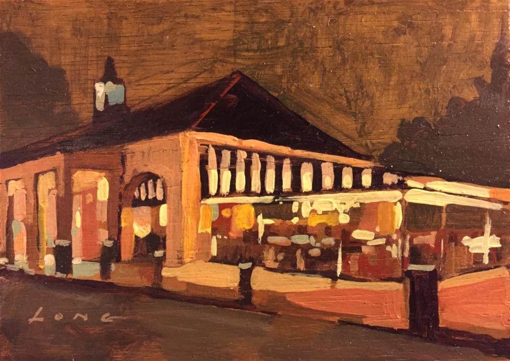 """""""Cafe Du Monde Nocturne"""" original fine art by Chris Long"""
