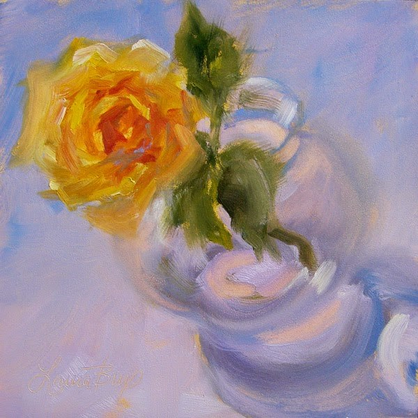 """Single Rose"" original fine art by Laura  Buxo"