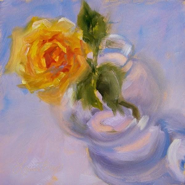 """Single Rose"" original fine art by Laura  Buxo"