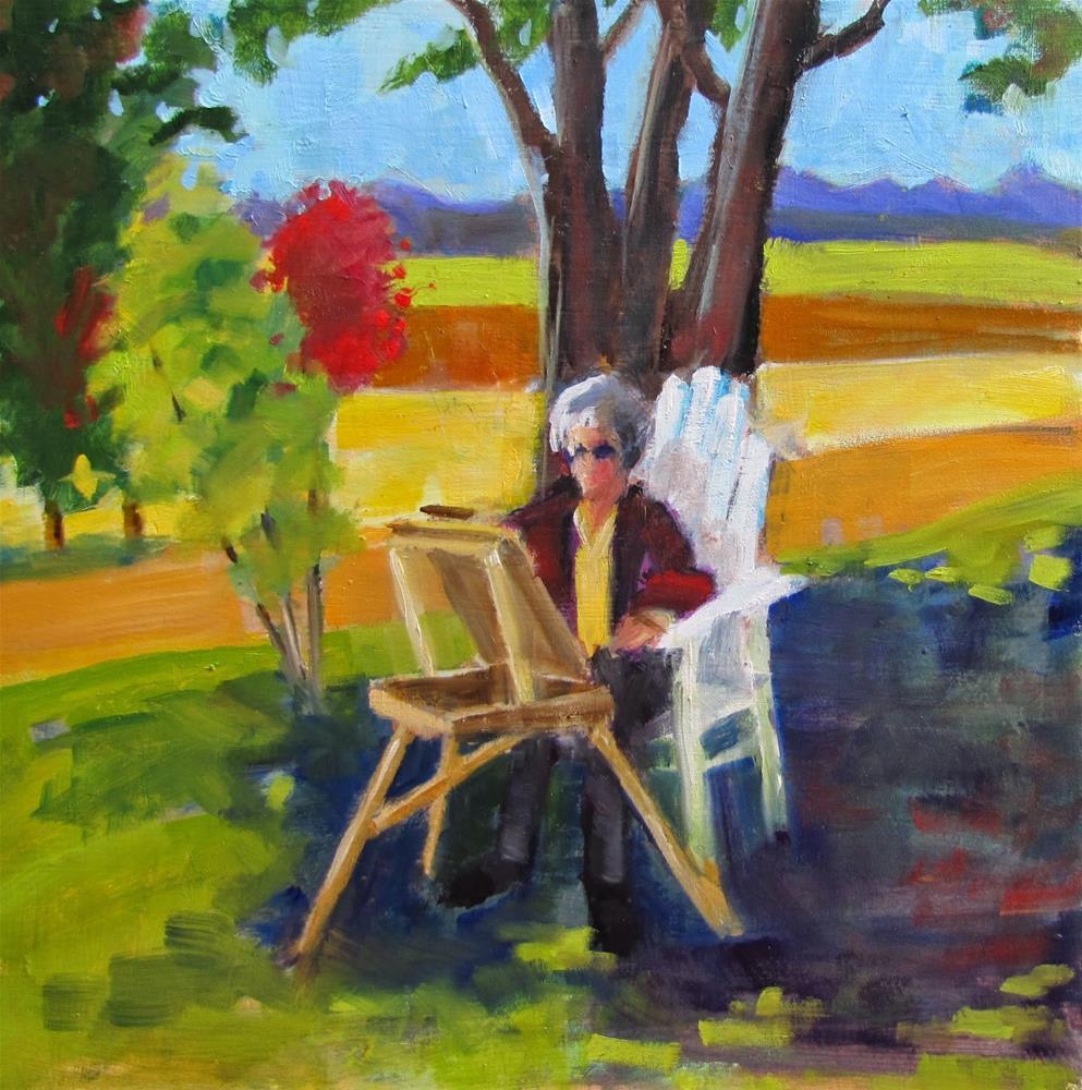 """Artist's Studio"" original fine art by Christine Holzschuh"