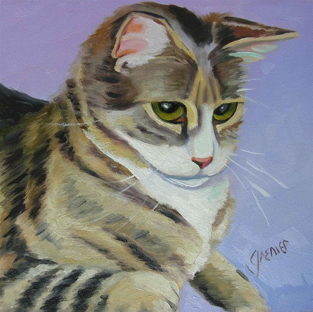 """Tiger Kittie"" original fine art by jean grenier"