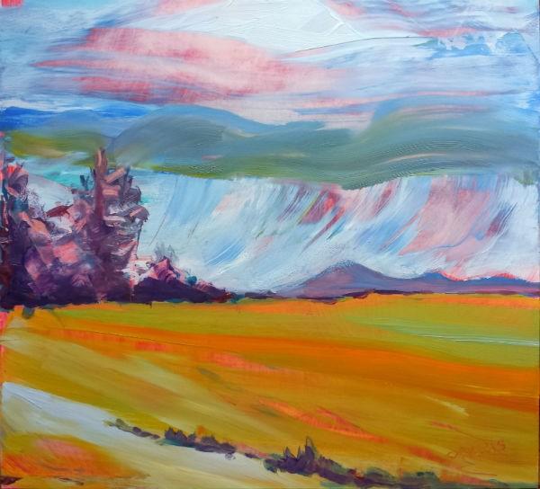 """""""Valley Storm 11"""" original fine art by Pam Van Londen"""