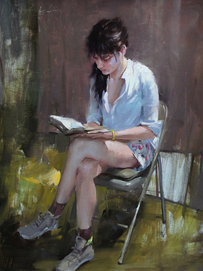 """""""New painting, New gallery and Other information"""" original fine art by Fongwei Liu"""