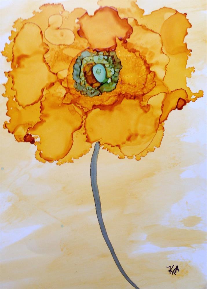 """Dahlia"" original fine art by Kris Alge"
