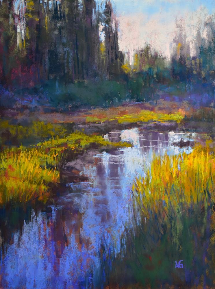 """Beauty on the wetlands"" original fine art by Alejandra Gos"