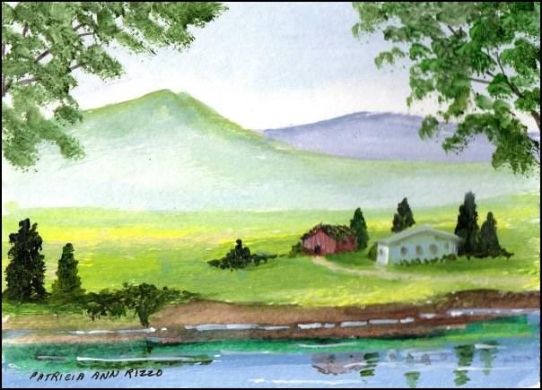 """Mist Valley"" original fine art by Patricia Ann Rizzo"
