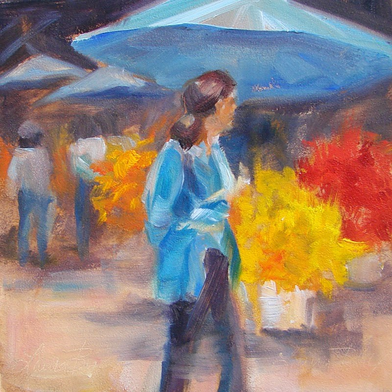 """Farmers Market"" original fine art by Laura  Buxo"