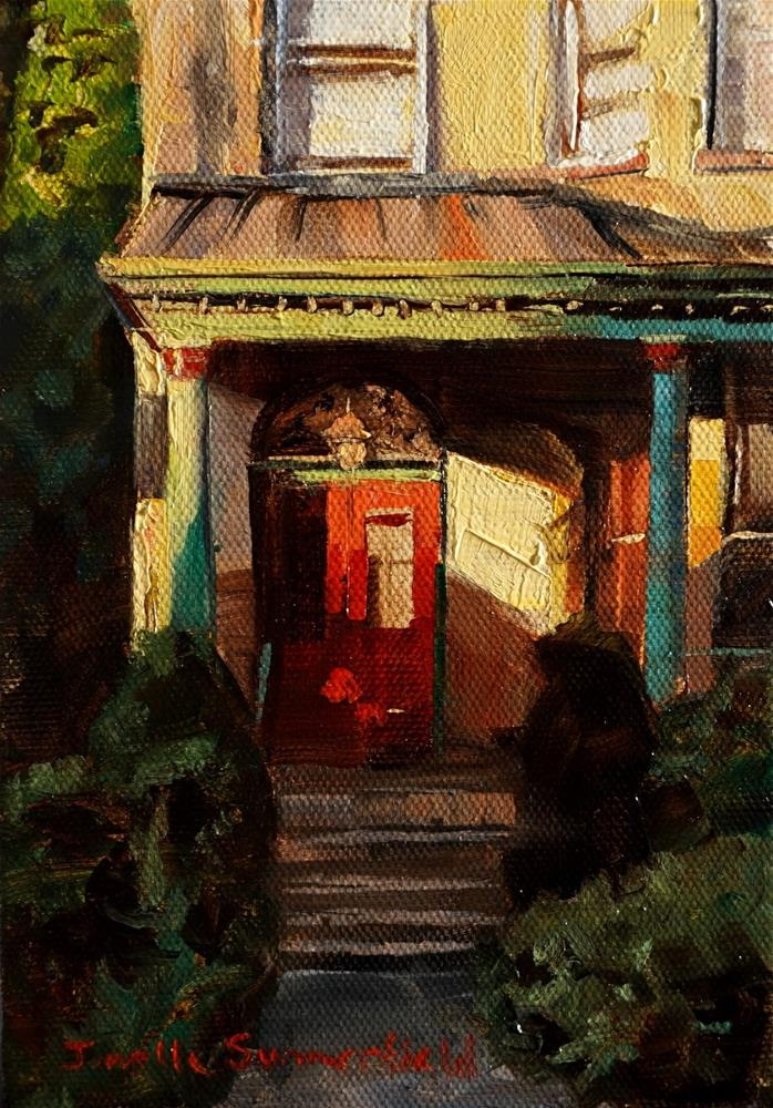"""Shady Side Doorway"" original fine art by Jonelle Summerfield"