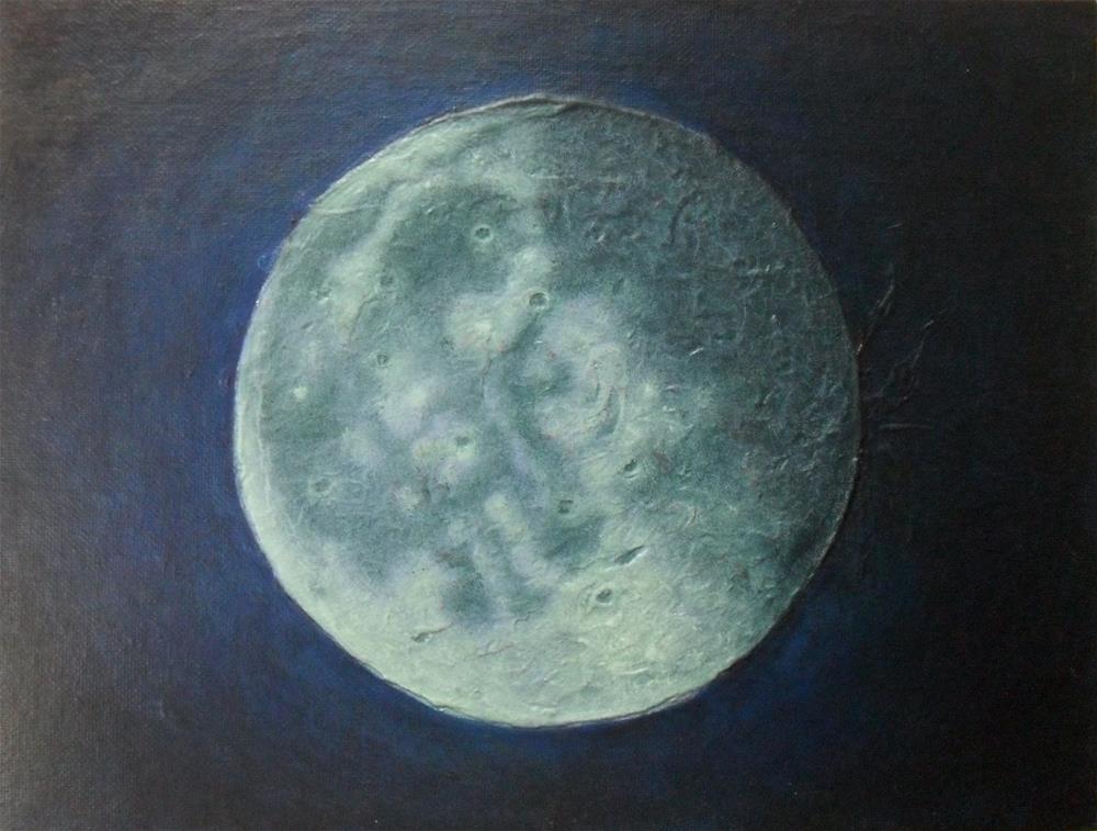 """Luna Moona"" original fine art by Karen Roncari"