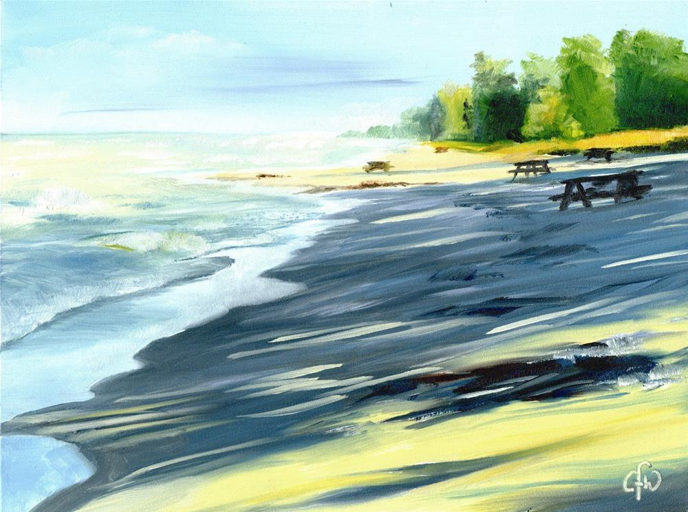 """Beach at the End of the Day"" original fine art by Gary Westlake"