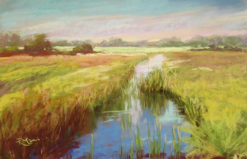 """Buckenham Marshes"" original fine art by Ruth Mann"