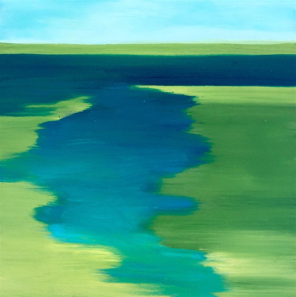 """Landscape 4"" original fine art by Janet Bludau"