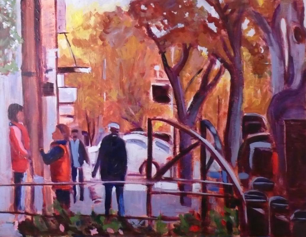 """Pandora Street, 27x35, acrylic"" original fine art by Darlene Young"