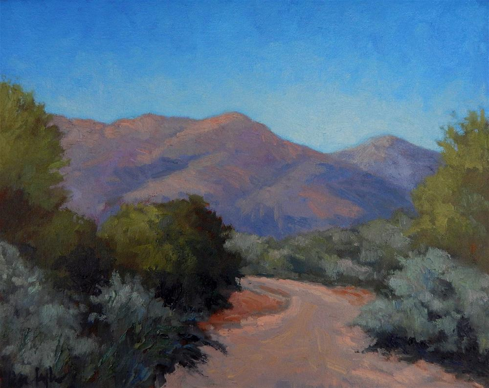 """Desert Garden (at Taliesen West)"" original fine art by Lisa Kyle"