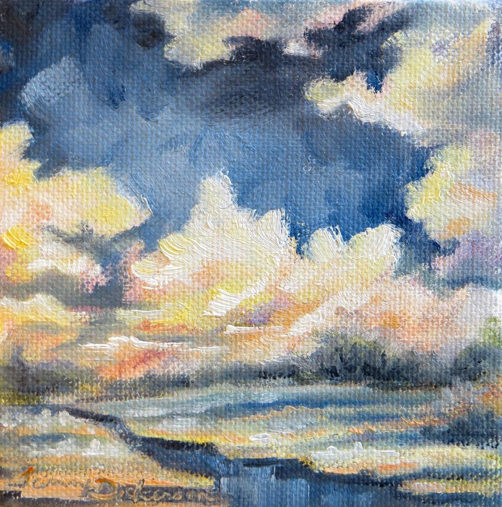 """Billowing Clouds"" original fine art by Tammie Dickerson"