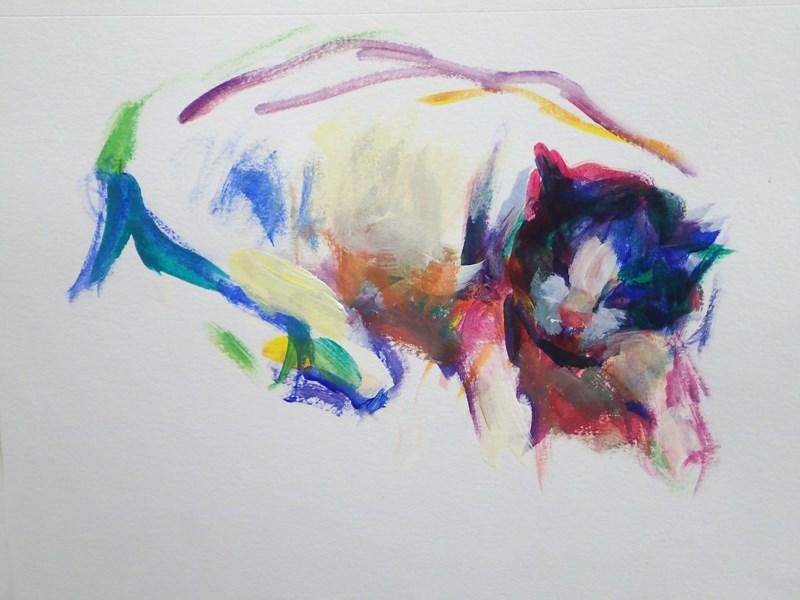 """Zonked"" original fine art by Sharon Savitz"