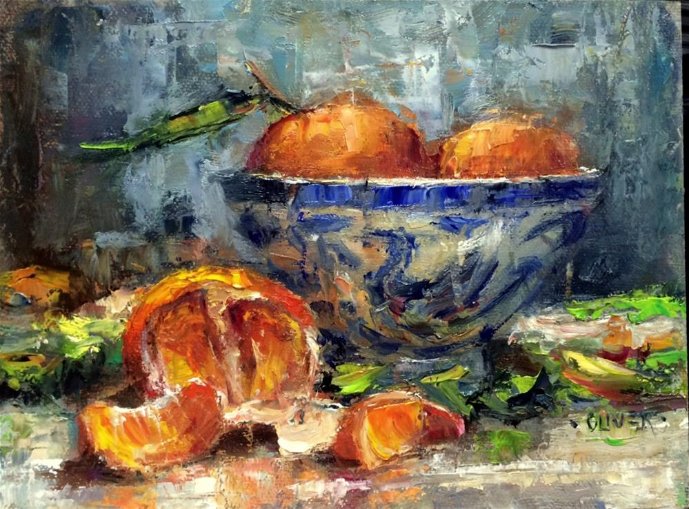 """Tangerine Time"" original fine art by Julie Ford Oliver"