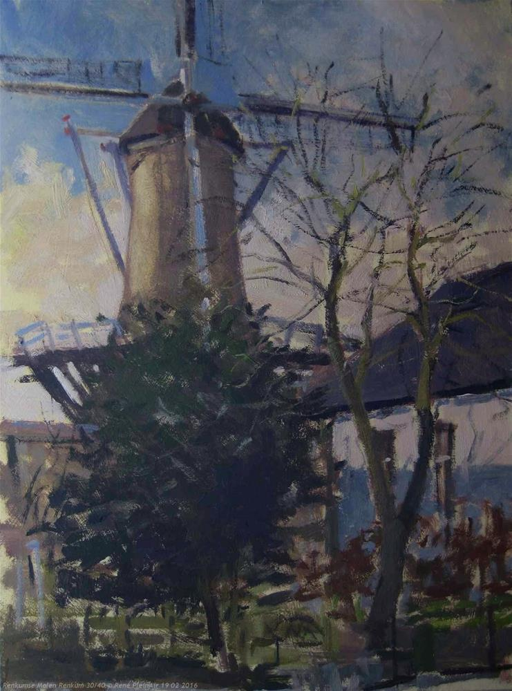 """Renkumse Molen.  Renkum, The Netherlands."" original fine art by René PleinAir"