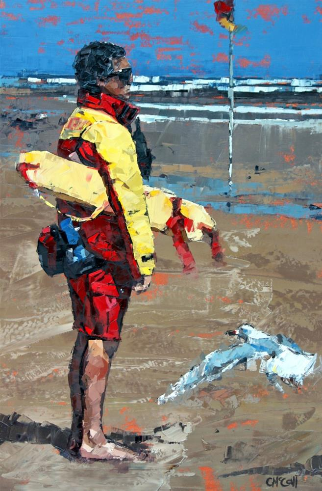 """The Lifeguard"" original fine art by Claire McCall"