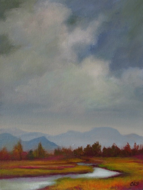 """October Valley"" original fine art by ~ces~ Christine E. S. Code"