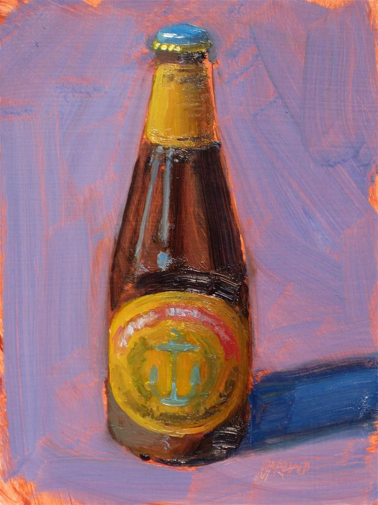 """a tall cold one"" original fine art by Dan Graziano"