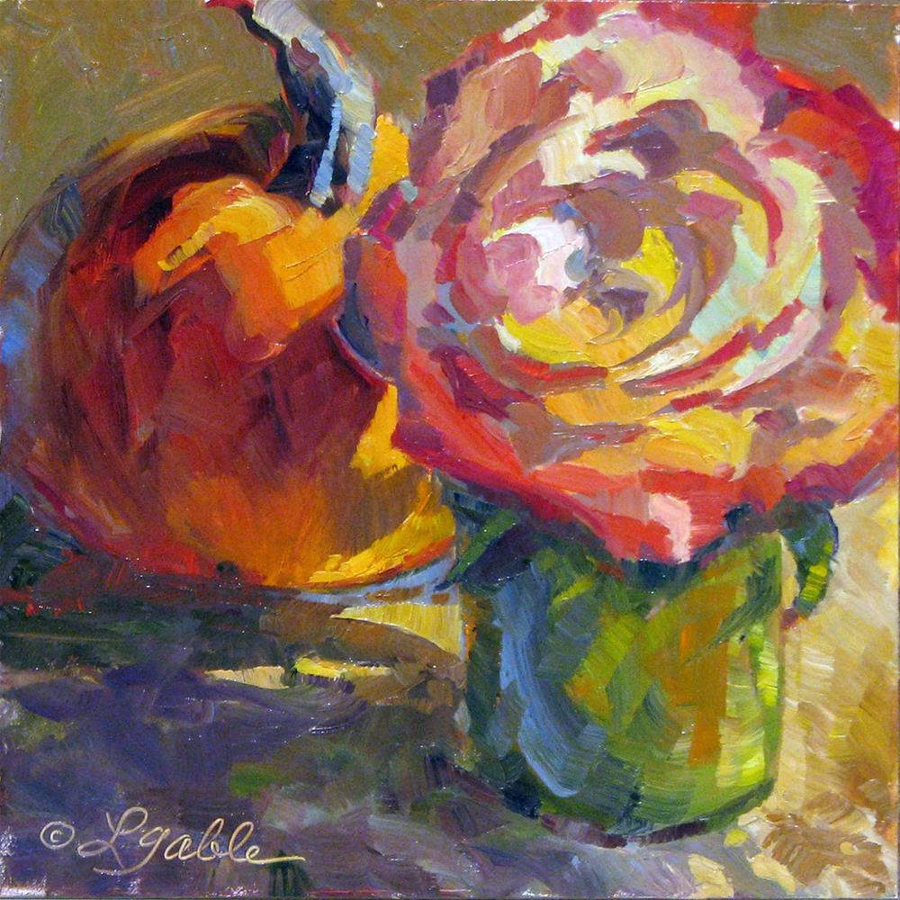 """Late Bloom and Harvest"" original fine art by Laura Gable"