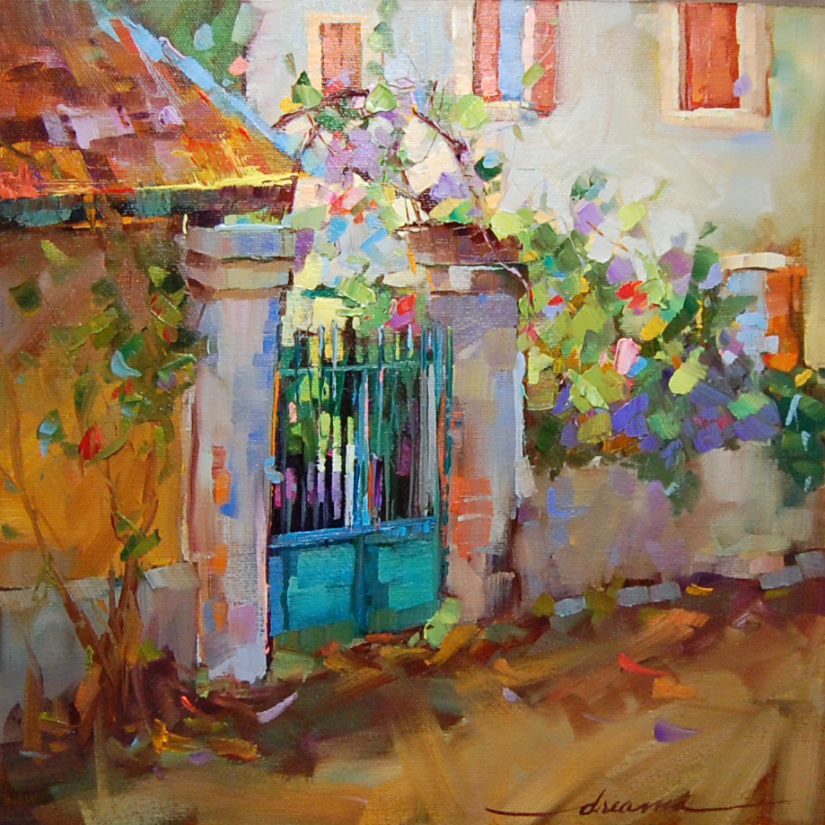 """BeThere--Le Jardin"" original fine art by Dreama Tolle Perry"