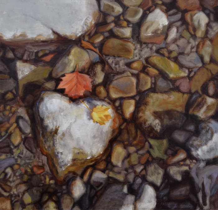 """Seven Heart Rocks"" original fine art by Susan N Jarvis"