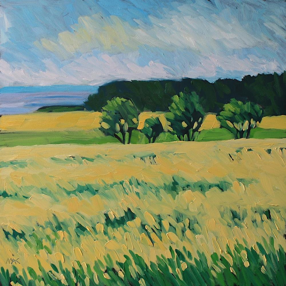 """Mustard Fields"" original fine art by Mary Anne Cary"