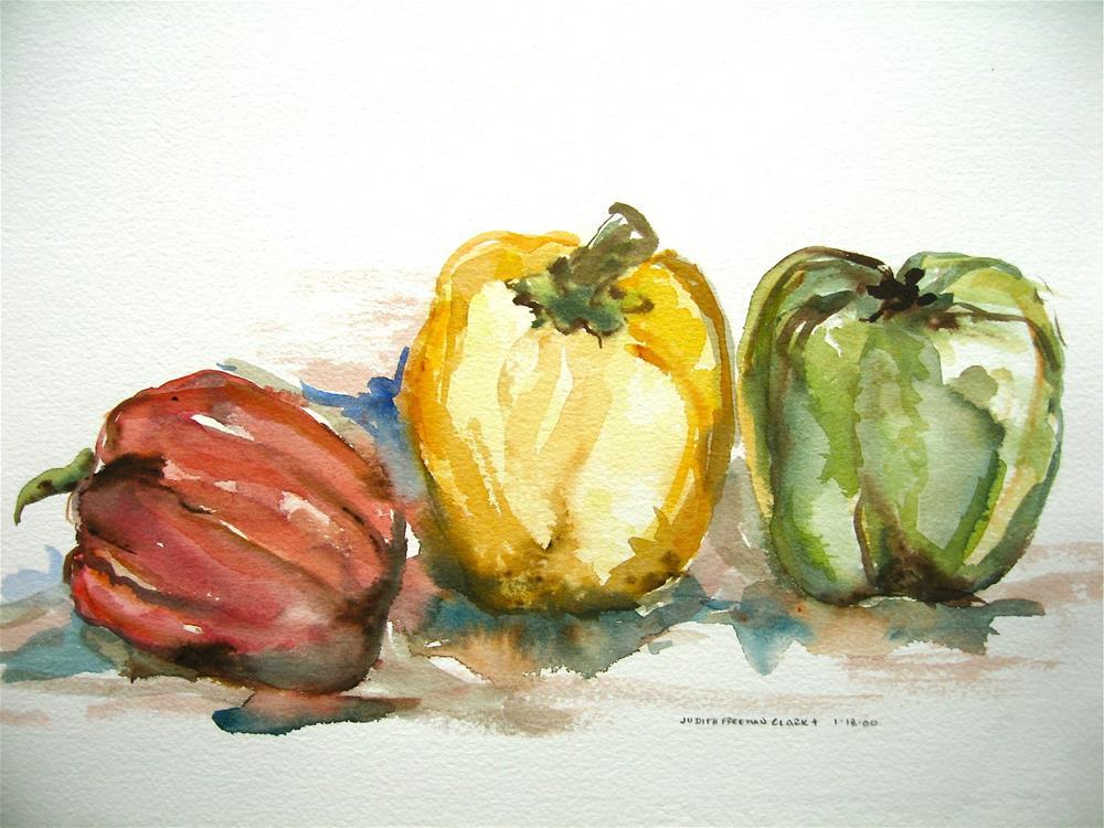 """Three Amigos"" original fine art by Judith Freeman Clark"