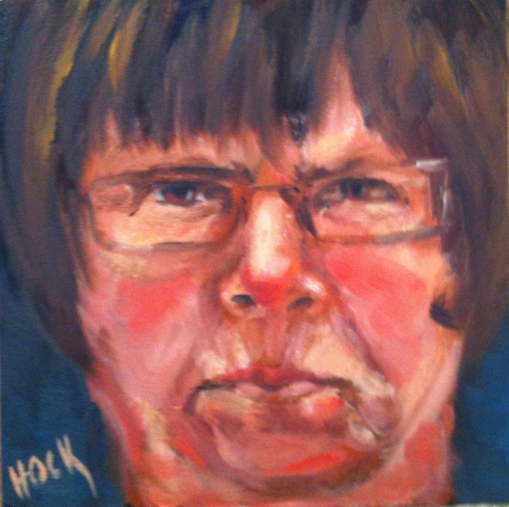 """Hilton Head Gang week 18  Kit The Rebel"" original fine art by Maria Bennett Hock"
