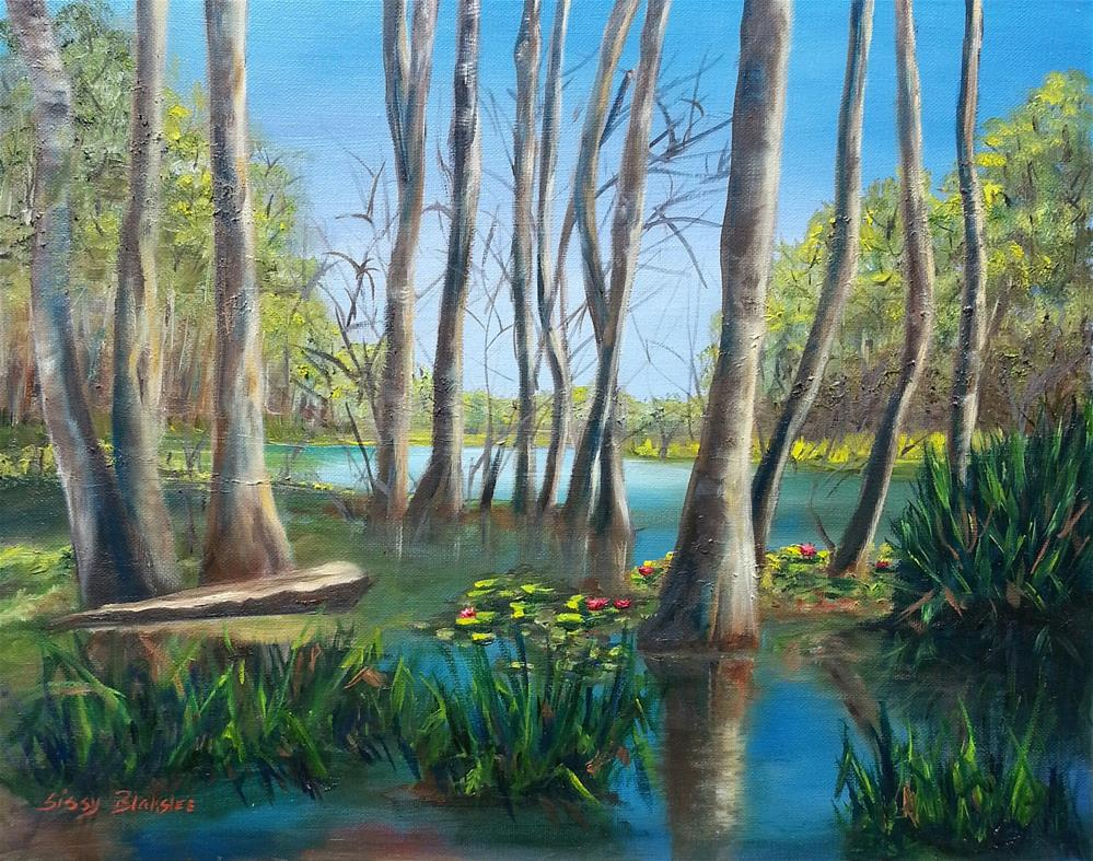 """In The Trees"" original fine art by Sissy Blakslee"