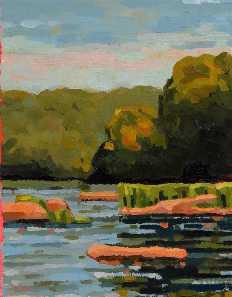"""Rappahannock River 10am"" original fine art by Joan Wiberg"